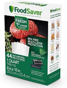 FoodSaver 1-Quart Precut Vacuum Seal Bags
