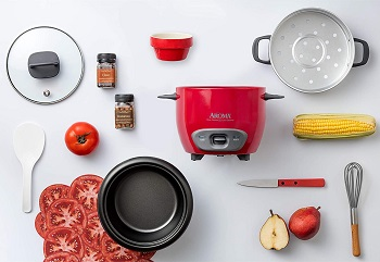 Aroma Rice Cooker Red