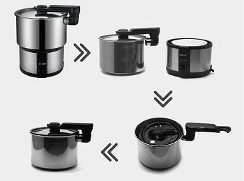 VRJOHN Mini Rice Cooker