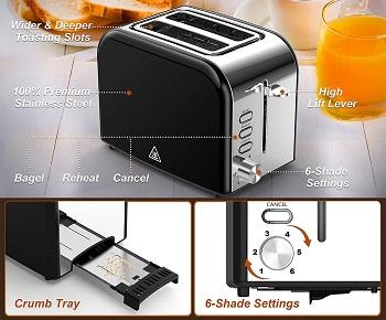 Pipigo Wide Slot Toaster