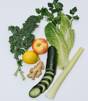 celery and fruits and vegetables