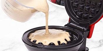 Dash DMSW002RD Mini Maker Grill, Griddle Waffle Maker
