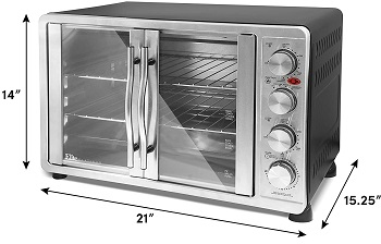Elite Gourmet Toaster Oven, 45L