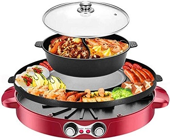 H Hukoer Electric Smokeless Grill