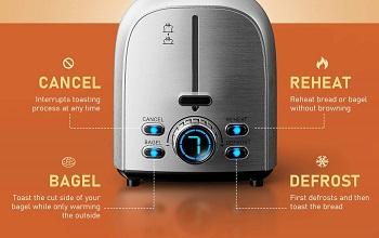 HadinEEon 2-Slice Nice Toaster