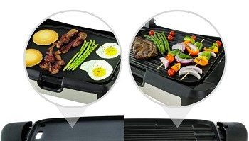 Ovente 2 In1 GR2001B Grill Griddle