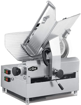 BEST AUTOMATIC: KWS MS-12A 12 Inch Meat Slicer