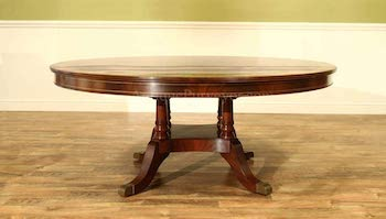 BEST BIG 12-PERSON ROUND Antique Purveyor Dining Table