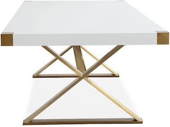 BEST BIG MODERN 10-SEATER Tov Furniture The Adeline Dining Table