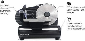 BEST CHEAP: Elite Gourmet EMT-625B Home Deli Slicer