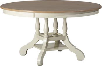 BEST FARMHOUSE 12-PERSON ROUND Hillsdale Rockport Dining Table