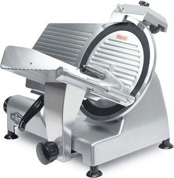 BEST FOR HOME: 12 Inch KWS TBB12 Electric Meat Slicer