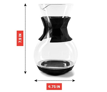 BEST POUR OVER 4 CUP Drip Coffee Maker