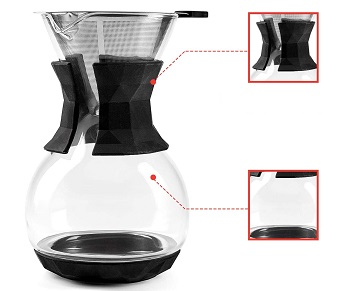 BEST POUR OVER 4 CUP Uno Casa Drip Coffee Maker