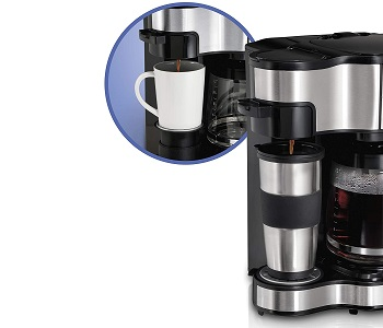 BEST WITH COFFEE POT 2IN1 Hamilton Beach Coffee Maker