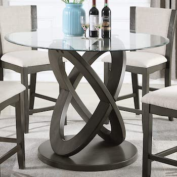 Best 120cm Glass Dining Table With 4 Chairs