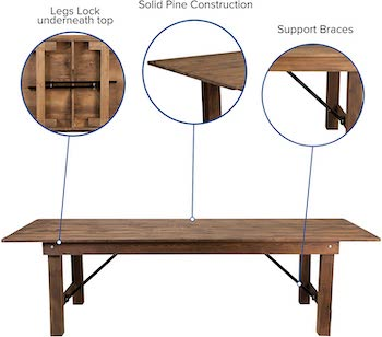 Best Cheap 10-Person Famrhouse Table