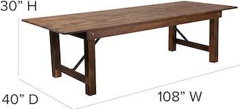 Best Cheap 10-Person Farmhouse Flash Furniture Table