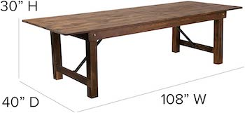 Best Folding Modern 10-Seater Dining Table