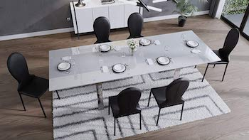 Best Glass Modern 10-Seater Dining Table