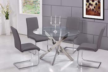 Best Modern Glass Dining Table Set For 4