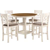 Best Round High Top Dining Table Set For 4 Rundown