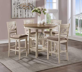 Best Round High Top Dining Table Set For 4
