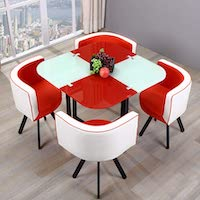 Best Square Glass Top Dining Table Set 4 Chairs Rundown