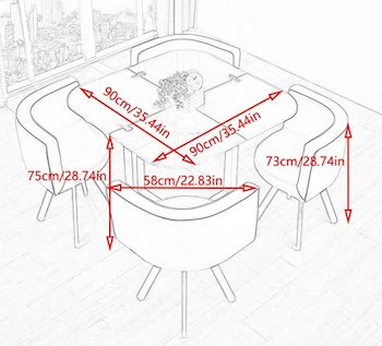 Best Square Glass Top Dining Table Set 4 Chairs