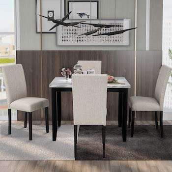 Best Top Marble Dining Table Set For 4