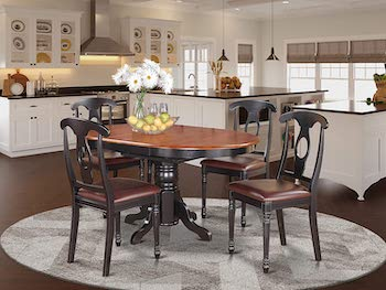Best Wooden 1940s Dining Table And Chairs