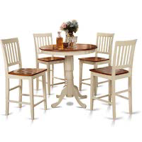 Best Wooden High Top Dining Table Set For 4 Rundown