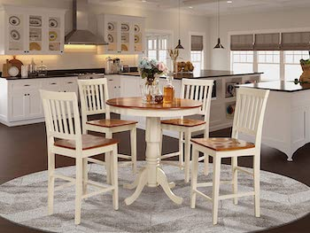 Best Wooden High Top Dining Table Set For 4