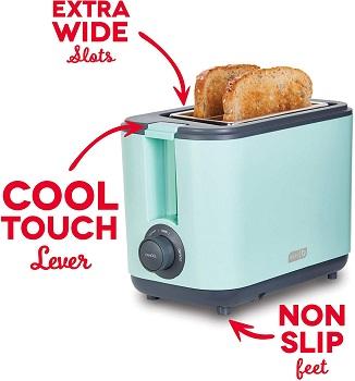 Dash DEZT001AQ Color Toaster