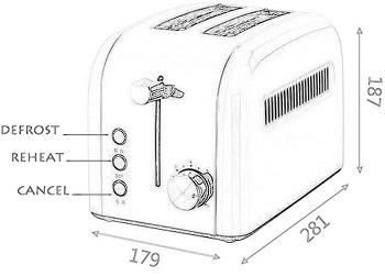 Dvonl 2-Slice Bronze Toaster