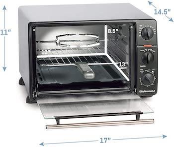 Elite Gourmet Toaster Oven Rotisserie