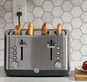 Ge G9TMA4SSPSS Wide-Slot Toaster