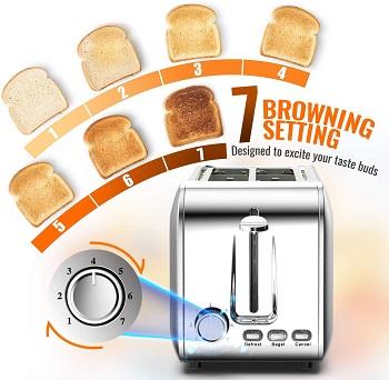 Hommater 2-Slice Toaster