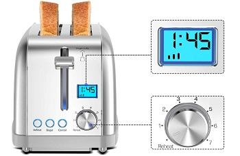 Lofter MD180013 Long Slot Toaster