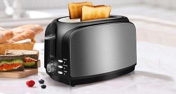 LoweXII Black Steel Toaster