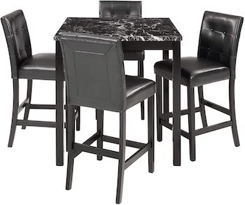 Rhomtree Marble Table With 4 Chairs