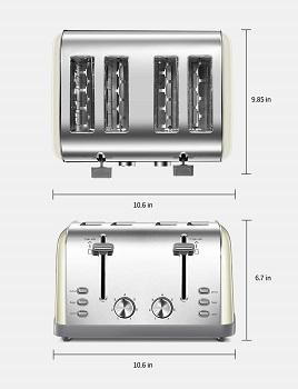Yabano 4-Slice Toaster