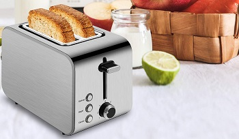 iFedio Wide Slot Toaster
