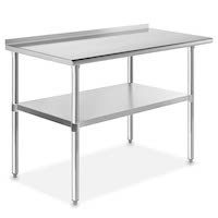 Best 24 x 48 Stainless Steel Table With Backsplash Rundown