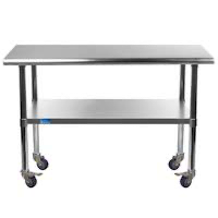 Best 24 x 48 Stainless Steel Table With Casters Rundown