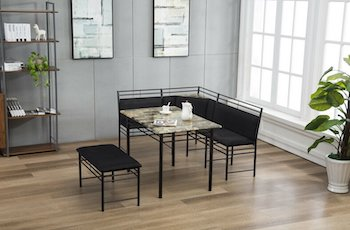 Best 4-Seat3-Piece Breakfast Nook Dining Set