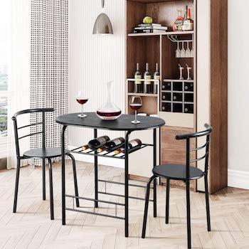 Best Cheap Black 3-Piece Dining Set