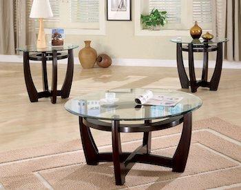 Best Coffee 3-Piece Glass Table Set