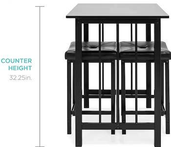 Best Counter-Height Black 3-Piece Dining Set
