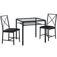 Best Glass Black 3-Piece Dining Set Rundown